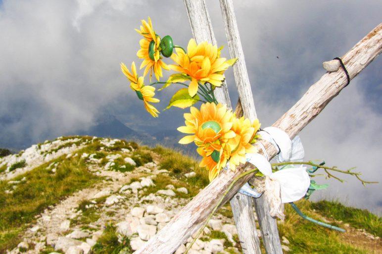 Das Gipfelkreuz der Cima delle Pozzette