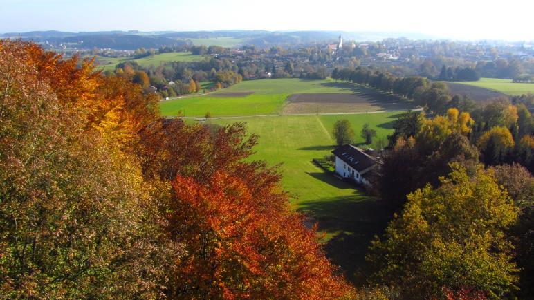 Schöne Aussicht auf Ebersberg, aber heute ohne Alpenblick