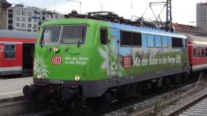 Die DAV-Lok im Starnberger Flügelbahnhof des Hauptbahnhof München