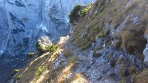 Auf dem Abstiegsweg vom Stripsenkopf zum Stripsenjochhaus