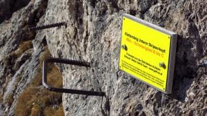 Der Einstieg zum Stripsenkopf-Klettersteig