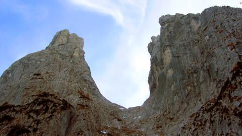 Das Ellmauer Tor, von der Innenseite aus gesehen