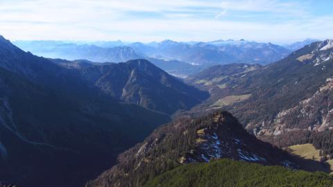 Fernblick über das Kaisertal nach Westen