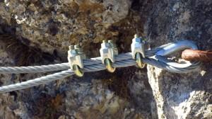 Am Klettersteig-Einstieg