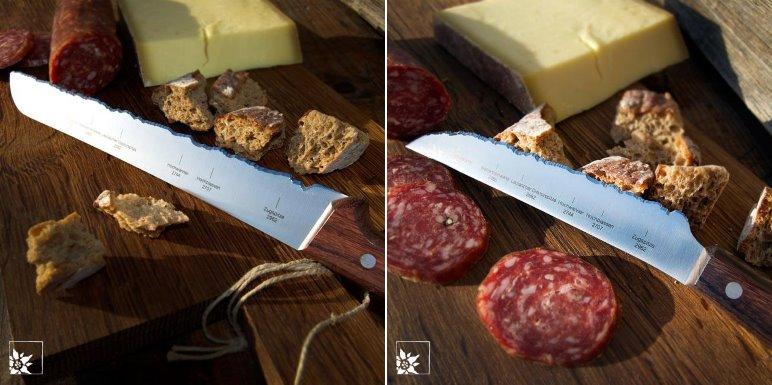 Das Panoramaknife Münchner Hausberge als Brotmesser und als Universalmesser - Foto: Wohlgeraten