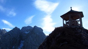 Panoramatafel im Gipfelpavillon