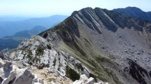 Die Monte-Baldo Gipfel von der Cima Valdritta aus gesehen