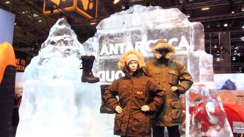 Eisskulpturen auf der ISPO - mit denen in Harbin können sie nicht konkurrieren
