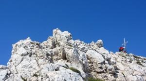 Der Gipfel der Cima Valdritta, der höchste Punkt der Wanderung