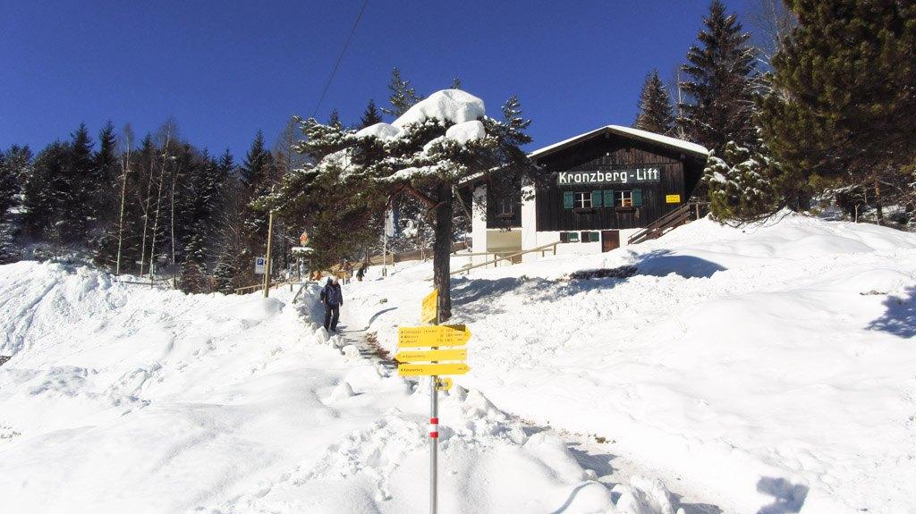 Kranzberg-Lift: Die Talstation liegt leicht oberhalb von Mittenwald