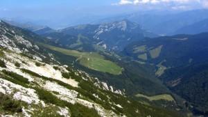 Blick ins Monte Baldo Hochtal nach Nordosten in Richtung Rovereto