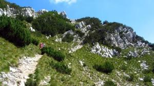 Auf dem Monte Baldo Wanderweg in Richtung Süden