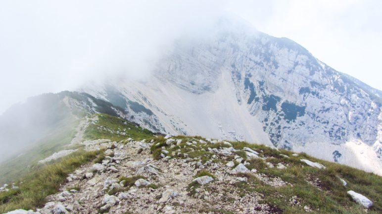 So sah es am Monte Baldo wenige Tage vorher aus, auf der Tour delle Cime hatten wir aber keinen Nebel