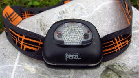 Die Petzl Tikka2 XP mit Streulichtscheibe