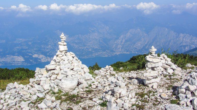 Steinmandl auf dem Weg zur Cima Pozzette