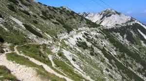 Blick zurück: Der Wanderweg zur Cima Telegrafo