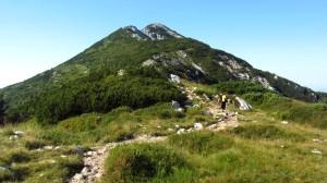 Das erste Gipfelziel des Tages, die Cima Pozzette