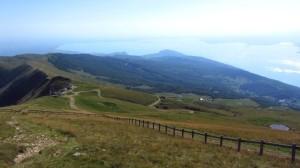 Der Weg vom Rifugio Chierego zur Seilbahn Prada