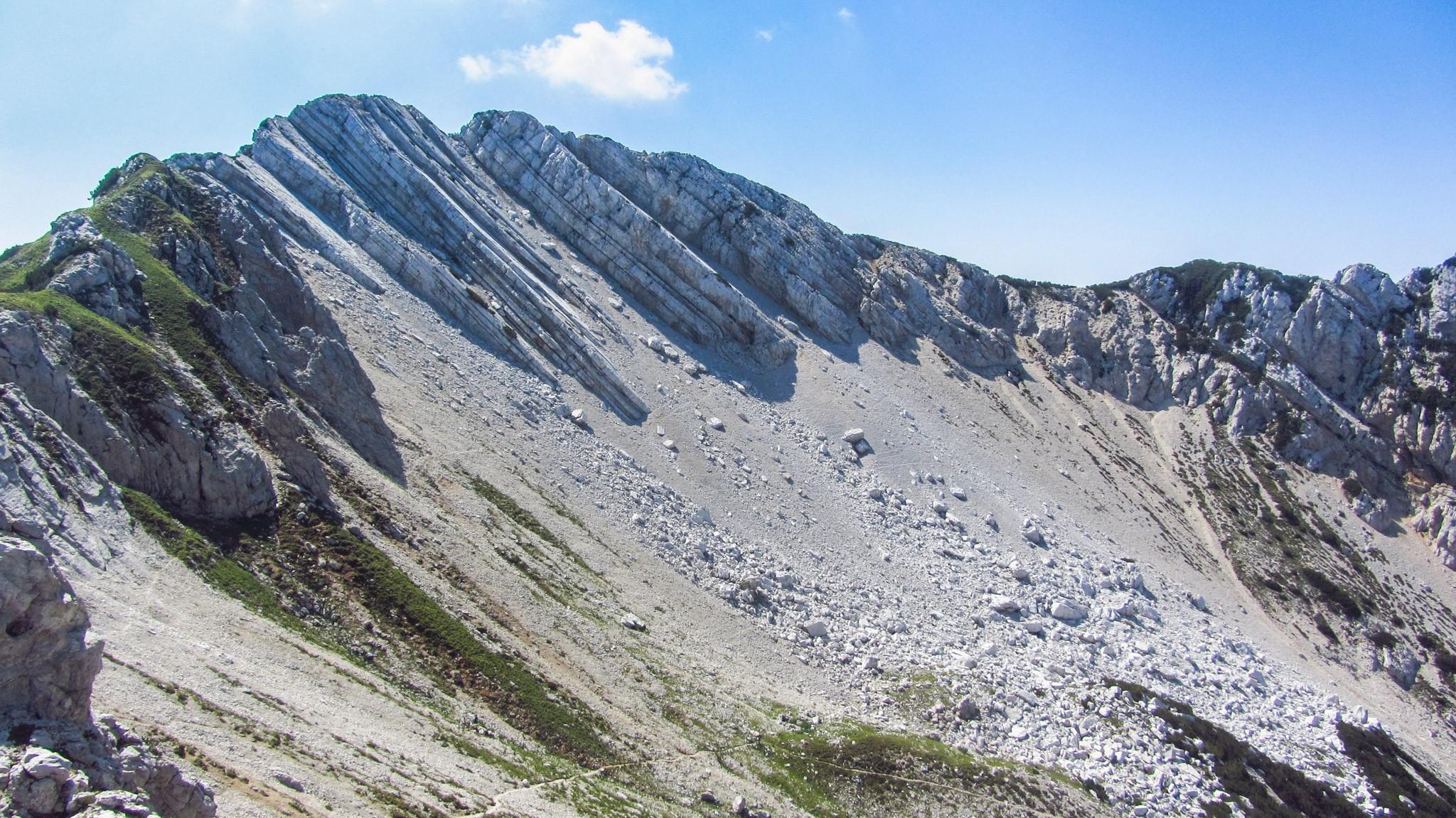 Der Monte Baldo zeigt seine unwirtliche Seite