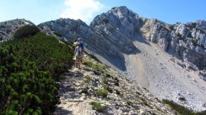 Weg Zur Cima Longione und Cima Valdritta