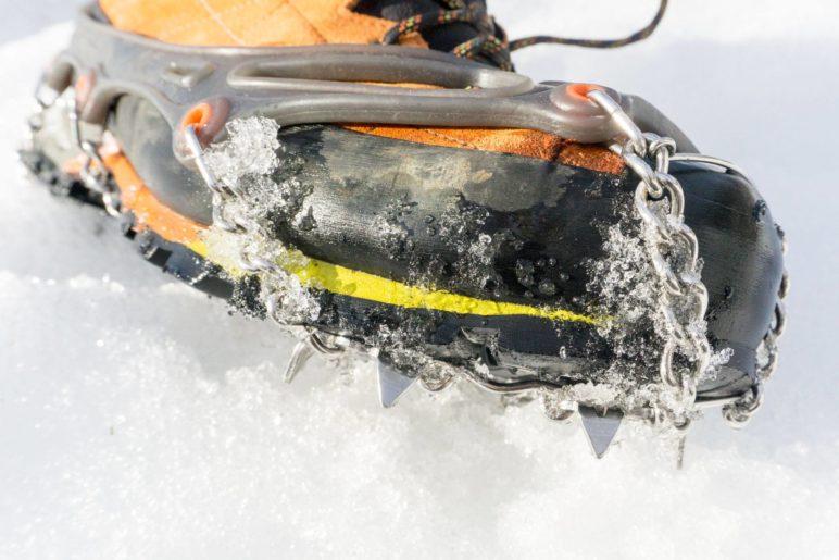 Hier sieht man gut die Zacken der Chainsen Snowline Pro