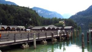 Der Bootsanleger am Königssee - Das Wetter könnte etwas besser sein