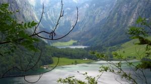 Königssee und Obersee mit der Anlegestelle Salet
