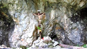 Das Kruzifix am Beginn der Saugasse