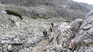 Wandern in Richtung Hundstodgruben