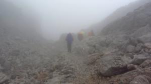 Wandern im Nebel, was für eine Suppe