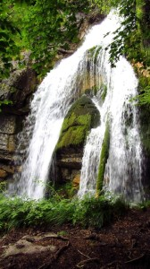 Der Wasserfall am Königssee