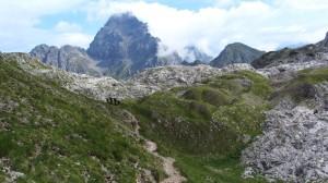 Der Watzmann - Um seinen Gipfel jagen Nebelschwaden