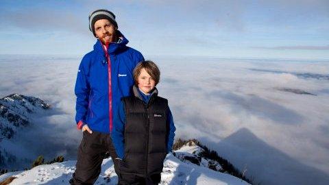 Sebastian und Luca von City-to-Summit.org auf der Brecherspitze - Foto: Sebastian Stiphout