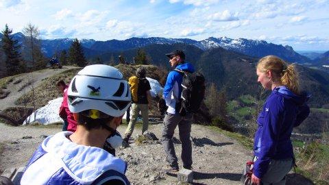Gute Fernsicht auf dem Grünstein-Gipfel