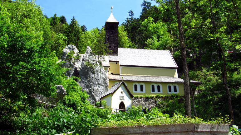 Unser heutiges Ziel. Der Klobenstein mit samt der Kirche und der Kapelle
