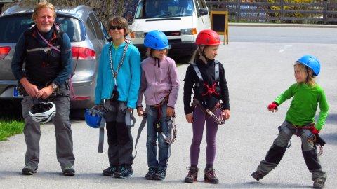 Geschafft. Die glücklichen Klettersteig-Helden auf dem Rückweg