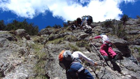 Klettersteiggehen am Grünstein-Klettersteig