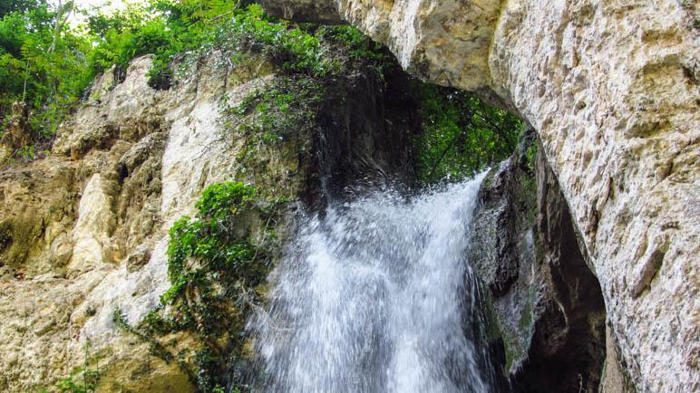 Die Cascata Verde im Parco delle Cascate in Molina