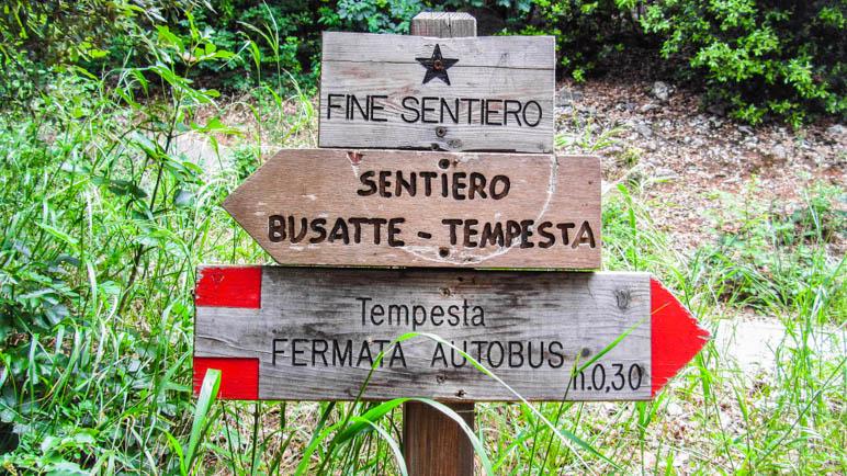 Fine Sentiero: Der Wanderweg ist zu Ende, die Wanderung noch nicht