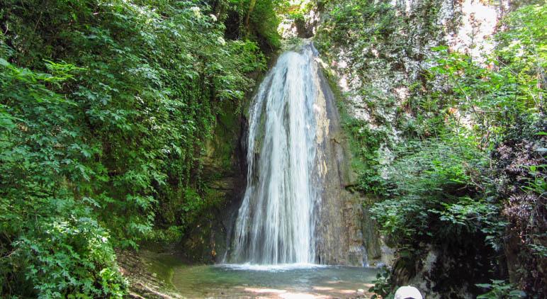 Einer der Wasserfälle im Parco delle Cascate