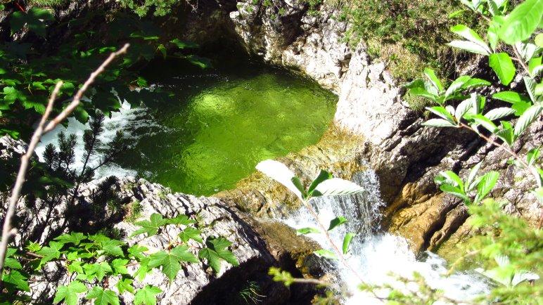 Kleine Wasserfälle und Gumpen im Pfanngraben