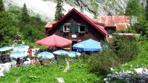 Die alte Höllentalangerhütte ist das Ziel der heutigen Wanderung