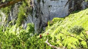 Der Einstieg zum Intersport-Klettersteig