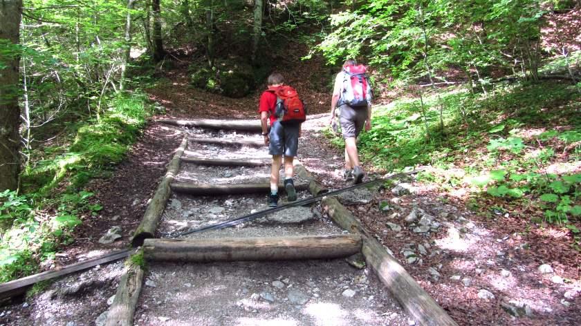 Der erste Aufstieg in Richtung Höllental - es wird nicht der letzte sein