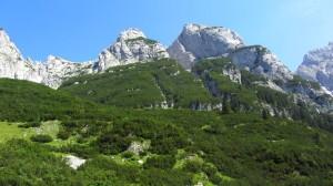 Der Gosaukamm besteht komplett aus beeindruckenden Felsbergen
