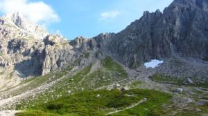 Unser Aufstiegsweg zum Steiglpass