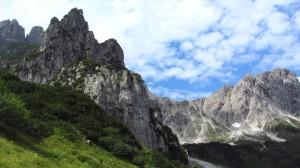 Der Klettergarten der Hofpürglhütte an der Rauchwand