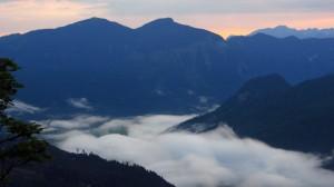Morgennebel über dem Gosautal
