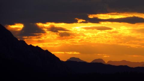Sonnenaufgang an der Gablonzer Hütte