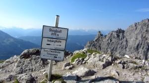 Der Steiglpass - der höchste Punkt unserer Wanderung